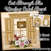 Cat Through The Window Card Front