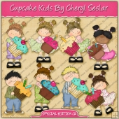 Cupcake Kids Collection ClipArt Collection