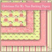 5 Cute Christmas For My Nan Backing Papers Download (C202)