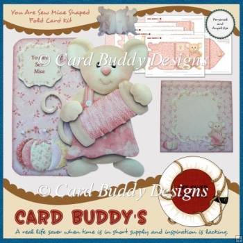 You Are Sew Mice Shaped Fold Card Kit