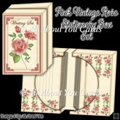 Pink Vintage Rose Stationery Box Set