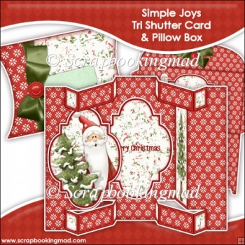 Simple Joys Tri Shutter Card With Matching Pillow Box