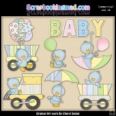 Baby Birdies Baby Shower ClipArt Collection