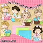 Tiny Toddlers First Birthday ClipArt Graphic Collection