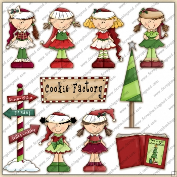 Ms Claus ClipArt Graphic Collection