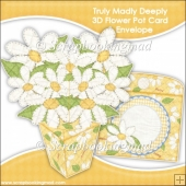 Pot Of Daisies 3D Flower Pot & Envelope