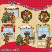 Raggedy Bears Deck The Halls ClipArt Graphic Collection