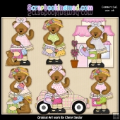 Bedilia Bear Goes Shopping ClipArt Graphic Collection