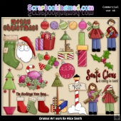 Christmas Is Coming ClipArt Graphic Collection 1