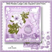 Wild Roses Large Lilac Square Card Front