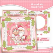 Mr & Mrs Santa Card Front