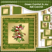 Green Comfort Joy Large 8x8 Card Kit