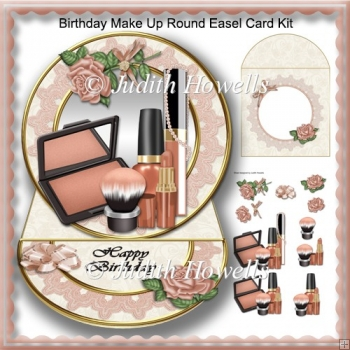 Birthday Make Up Round Easel Card Kit