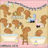 Booboo Babies Everyday ClipArt Graphic Collection