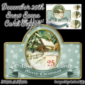 December 25th Snow Scene Card Topper