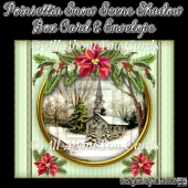 Poinsettia Snow Scene Shadow Box Card