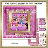 Girls Night Out Square Card Front And Insert