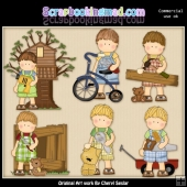 Mikey All Boy ClipArt Collection