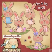 Spring Bunnies Clip Art Download