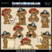 Stamps Sugar Plum Bears Pirates EXCLUSIVE ClipArt Collection