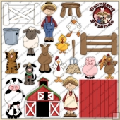 Old MacDonald ClipArt Graphic Collection