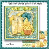 Party Time Lemon Square Card Front
