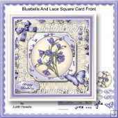 Bluebells And Lace Square Card Front