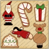 Christmas Cookies Collection 1 ClipArt Graphic Collection