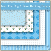 5 Give The Dog A Bone Backing Papers Download (C150)