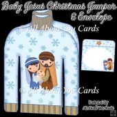 Baby Jesus Christmas Jumper Card & Envelope
