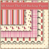 5 All About The Girl Backing Papers Download (C58)