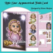 Little Star Assymetric Fold Card