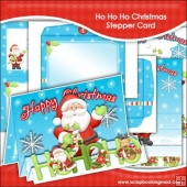 Ho Ho Ho Christmas Stepper Card