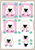 Easter Sheep PDF Decoupage Download