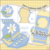 Daisy Scalloped Easel Card Download