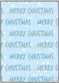 Backing Papers Single - Blue Merry Christmas - REF_BP_8