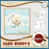 Beary Christmas Square Card Front