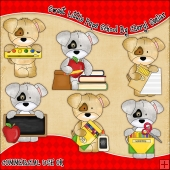 Sweet Little Pups School ClipArt Graphic Collection