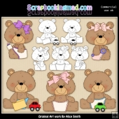Beasley Baby Bear 1 Clipart Graphics Download