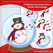 Christmas Snowman Snow Globe Decoupage Download