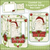 Comfort Joy 3 Aperture Spring Box Card
