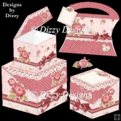 Roses Flip Lid Box Set & Freebie Pillow Purse