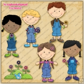 EXCLUSIVE Flower Child Clipart Collection