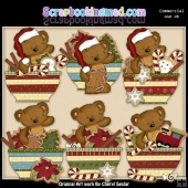 Tibbles Christmas Bowls ClipArt Collection