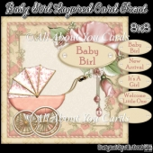 Baby Girl Layered Card Front