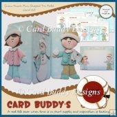 Snow Much Fun Shaped Tri Fold Card Kit