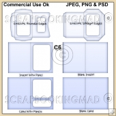 C6 Envelope Card & Insert Templates Commercial Use