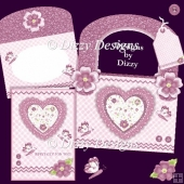 Lace Heart Tote & Card Set