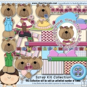 Spring Time Country Bears Scrap Kit