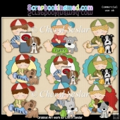 Ruperts Furry Friends ClipArt Collection